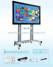 84 inch touch screen wall mounted computer LCD All in one PC tv with wifi bluetooth