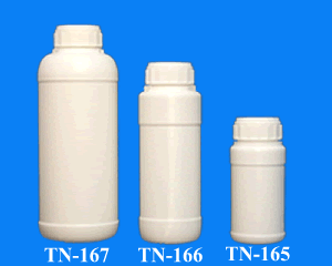 250 ml. 500 ml. and 1 lt. Hdpe Plastic Round Bottle with Aluminium Foiled Cap