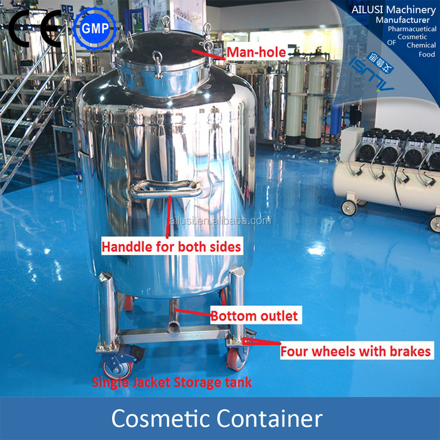 Movable cosmetic container, body slimming cream storage tank