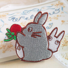 [Feng Xi] diy hand-embroidered jacket patch badge cartoon child cloth patch stickers Chinchilla