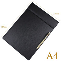 A4 Plastic Pvc Leather Hardcover Clipboard