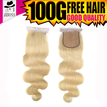 KBL human hair closure,virgin brazilian 613 hair closure piece,blonde virgin hair 3 bundles with 5x5 lace closure