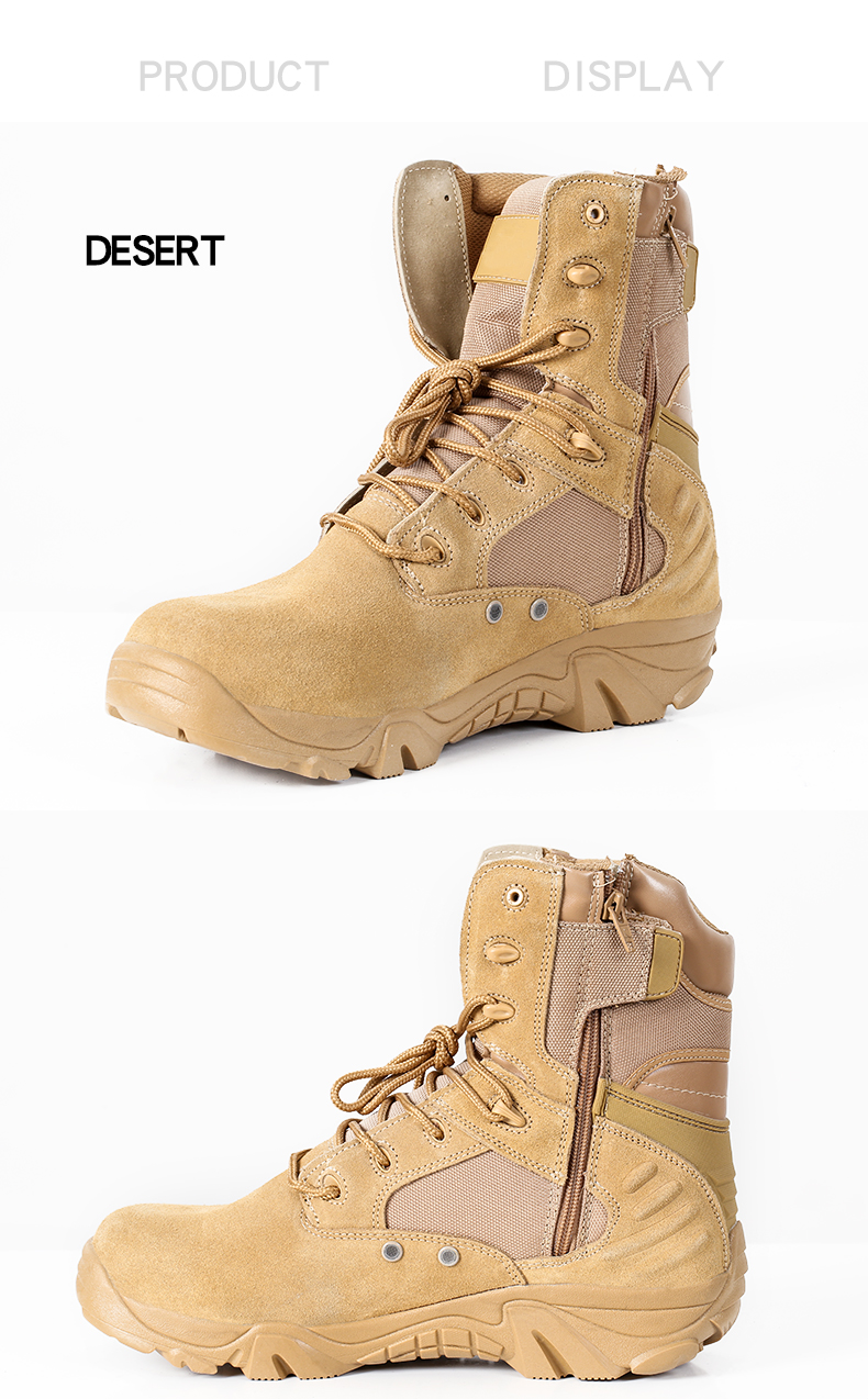 2019 Factory Direct Supply Durable Delta Black Desert Sand Police Combat Jungle Bota Military Boots Botines Para Hombres