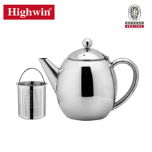 Hot sale Stainless steel double wall insulation teapot with filter