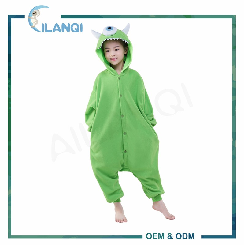 ALQ-C001 Plus size comfortable flannel animal onesie childrens pajamas