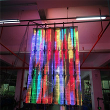 P10 indoor high brightness glass transparent led screen/display