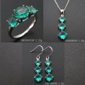 Fine Spinel Jewelry Green Stone Sets With Single Designs DR0300966S-G