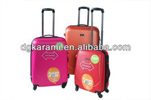 3pcs set abs/pc trolley suitcase factory for 2014