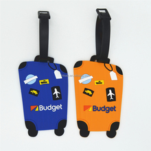 Cheap travel accessories PVC baggage tag for airlines