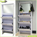 Mirrored shoe storage cabinet shoe rack designs wood