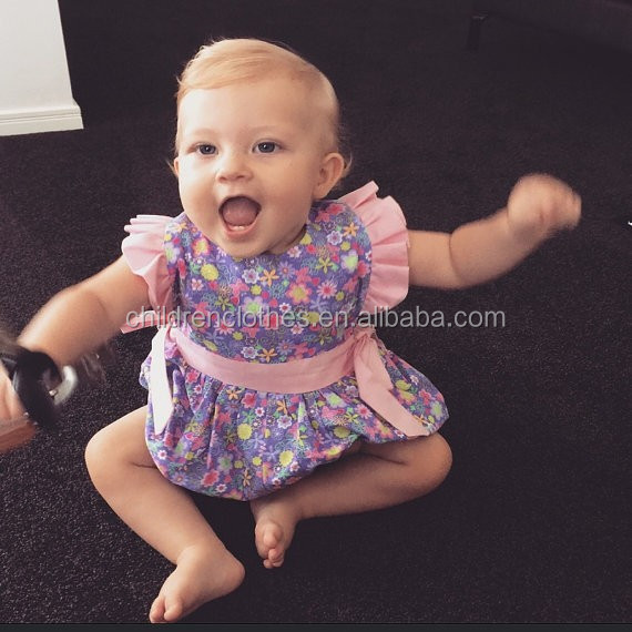 Stylish printed romper infants and toddlers clothing wedding lacha photos