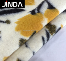 Wool acrylic polyester jacquard knitted fabric for winter coat