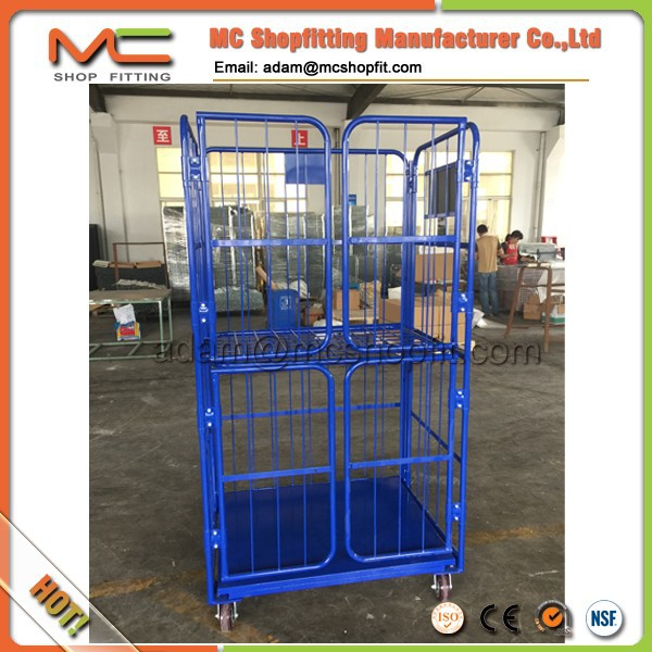 Steel foldable roll cage with 4 doors