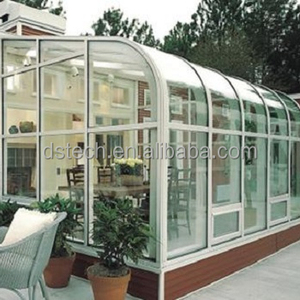 Customized sun room with Thermal insulation glass and tempered laminated glass