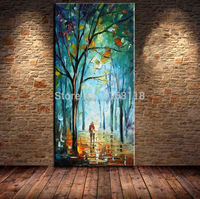 Top quality lovely couple in secret forest palette knife handmade paint For living room decor hand painted canvas oil painting