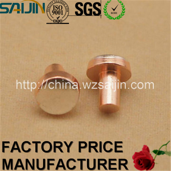 Alibaba 6th Year Gold Supplier Stamping Part Contact Silver Copper Bimetal Rivets
