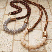 wood custom costume bead mala statement chain antique necklace