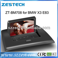 ZESTECH Touch Screen 7 inch Double Din car dvd for BMW X3 E83 with DVD GPS 3G Wifi Phonebook DVR function