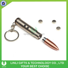 Metal Light Bullet Red Laser Pen Keychain