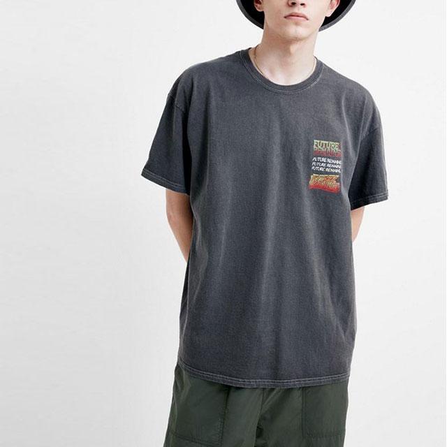 Bamboo Black mens clothing vintage t shirt custom print mens cotton spandex t shirt design  wholesale
