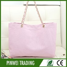 ladies fashionable canvas handbag for girl