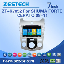 car audio system for KIA SHUMA/FORTE/CERATO car car audio radio player with TV 3G BT car dvd gps navigation system