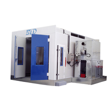BTD High quality with RIELLO oil burner Water Based Paint Spray Room Durable good quality Auto car spray booth