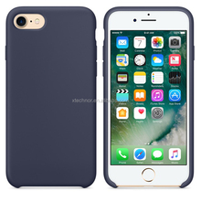 Original Back Cover for iPhone 7,Solid Silicone Case for iPhone 7 4.7''-Midnight Blue