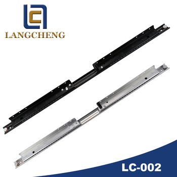 Cable-controlled reciprocal action slide butterfly-leaf extension table Hardware