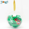Outdoor Decoration Clear Openable Plastic Bauble Decorative Tree Transparent Xmas Ball