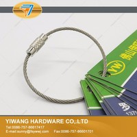 factory direct sale thin wire key chain with screw