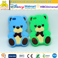 custom 3d animal silicone phone case cute bear shape cell phone case