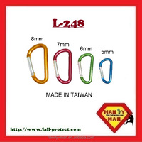 L-248 D Shaped Aluminum Carabiner Keychain