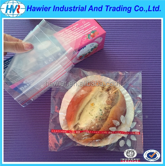 Custom Food grade plastic packaging zipper sandwich bags