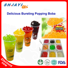 Taiwan Hot Selling Bubble Tea Bursting Juicy Ball Popping Boba Supplier