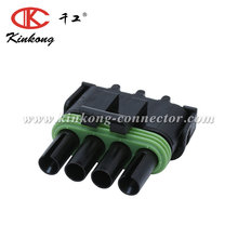 kinkong High Quality 4 pin female auto Delphi connector with stock 12015797