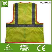 Wholesale custom 100% polyester reflective fishing life safety vest