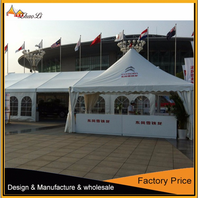 2016 cheap factory price 5x5m luxury pagoda type wedding Cheap wall tents for sale