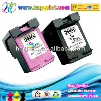 Compatible Ink Cartridge for Hp 300 CC640E CC643E for Hp300 Hp300XL Black and Color CC641EE CC644EE Refill Ink Cartridge for Hp