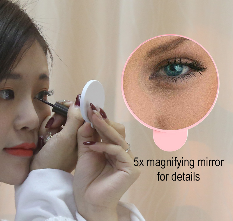 LED Touch Screen Vanity Mirror With Light Professional Makeup Mirror With 5X Magnification