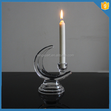 crystal European moon shape candle holders candle light holder