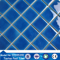 blue ceramic mini mosaics 48*48mm mosaic tile picture in turkey