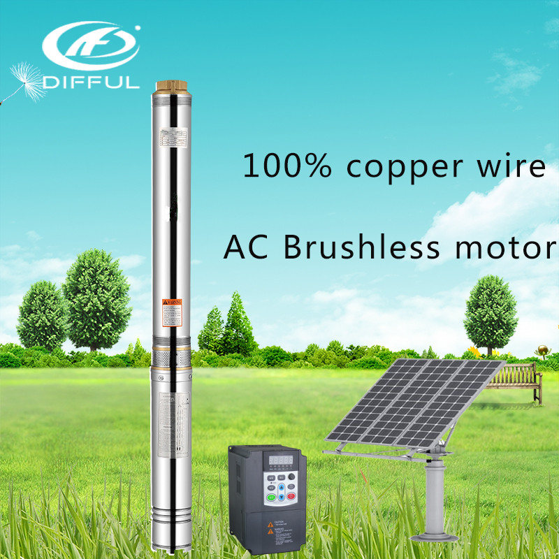 AC Solar Water Pump 220V With Inverter Brush For Agriculture
