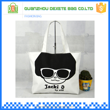 Wholesale high quality tote lady reusable 2d 3d cartoon canvas satchel backpack bag