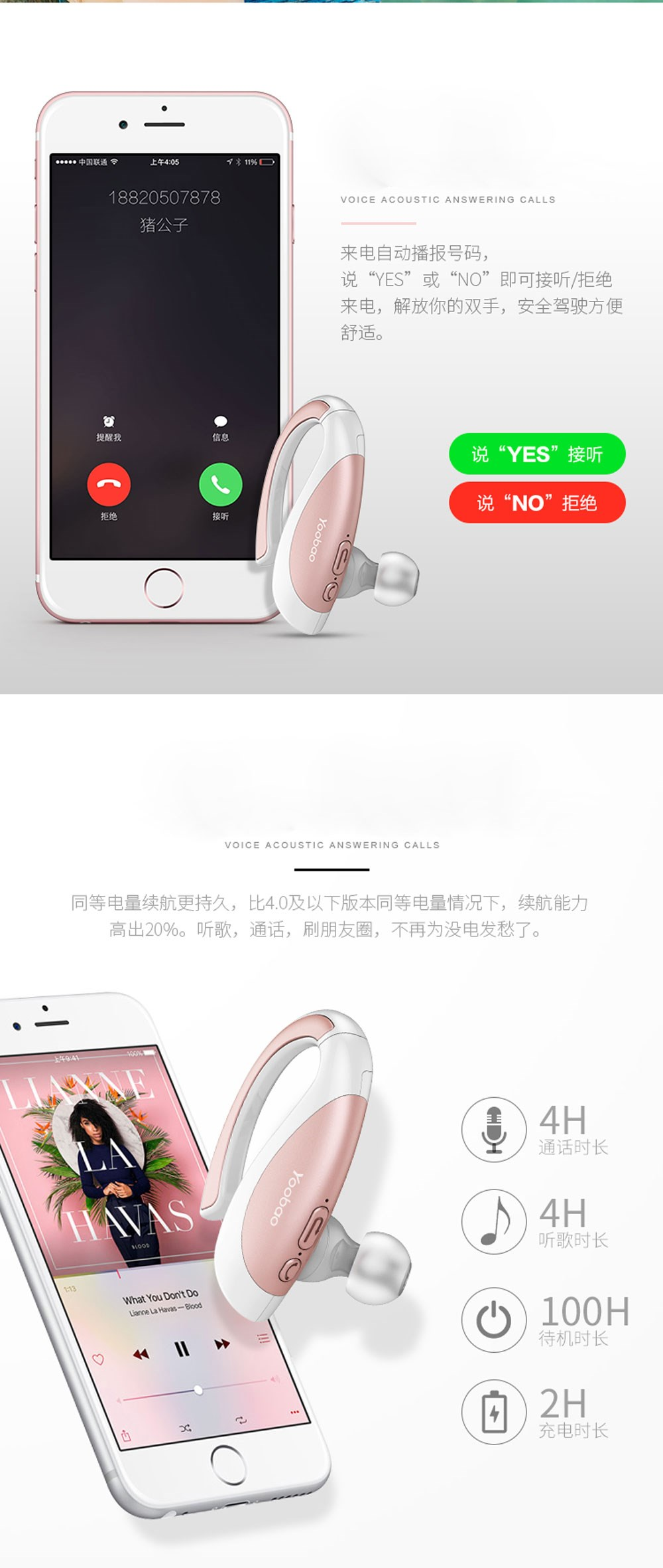YOOBAO amazing design wireless headphones bluetooth headset