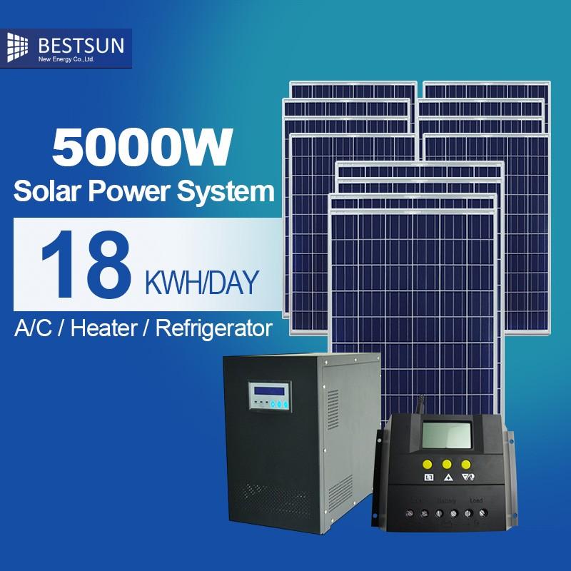 Solar Energy Storage Battery 5kw 6kw 10kw Home Solar Power