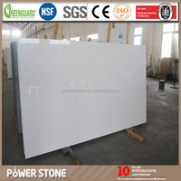 Big Grain White Sand Artificial Quartz Stone Slabs with Mirror