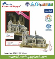 Cheap Cathedral of Notre Dame (France) building 3d model wholesale paper puzzle