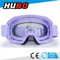 purple frame clear lens motorcycle glasses motocross goggles with nose guard