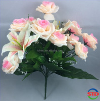 Artificial flower bouquet-Lily and Roses